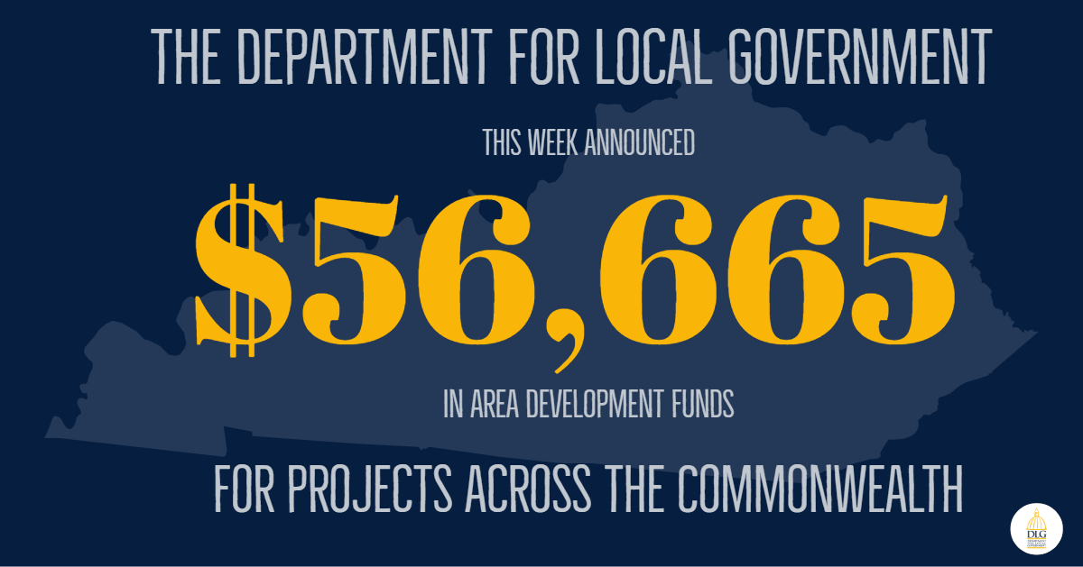 Department for Local Government Announces $56K in Awards from Area Development Fund