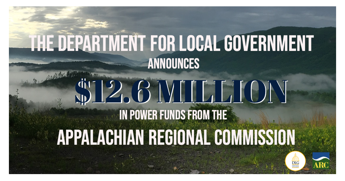 Gov. Bevin, DLG Announce $12.6M Appalachian Regional Commission Investment to Diversify and Strengthen Economy in Kentucky's Coal-Impacted Communities