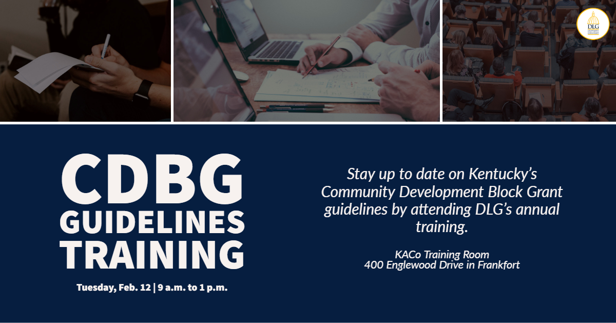 You're Invited to DLG's Annual CDBG Guidelines Training