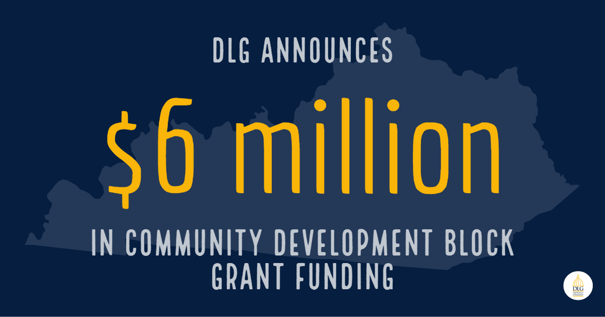 DLG Announces $6M in Community Development Block Grants