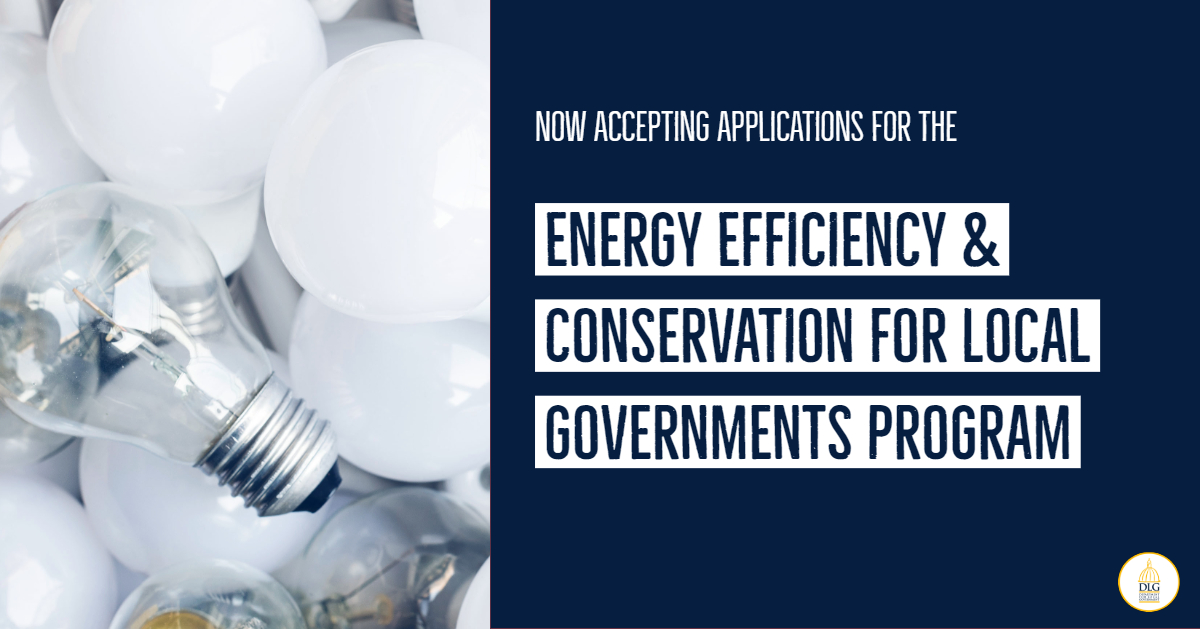 DLG Accepting Applications for Energy Efficiency and Conservation for Local Governments Program