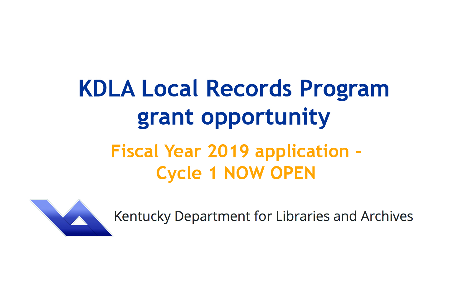 KDLA Local Records Program Grants
