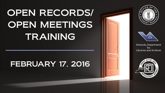 Open Records/Open Meetings Training