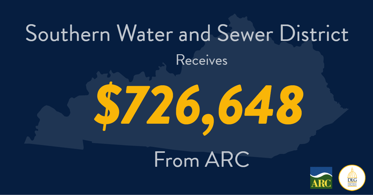 Southern Water and Sewer District Receives $726,648 from Appalachian Regional Commission