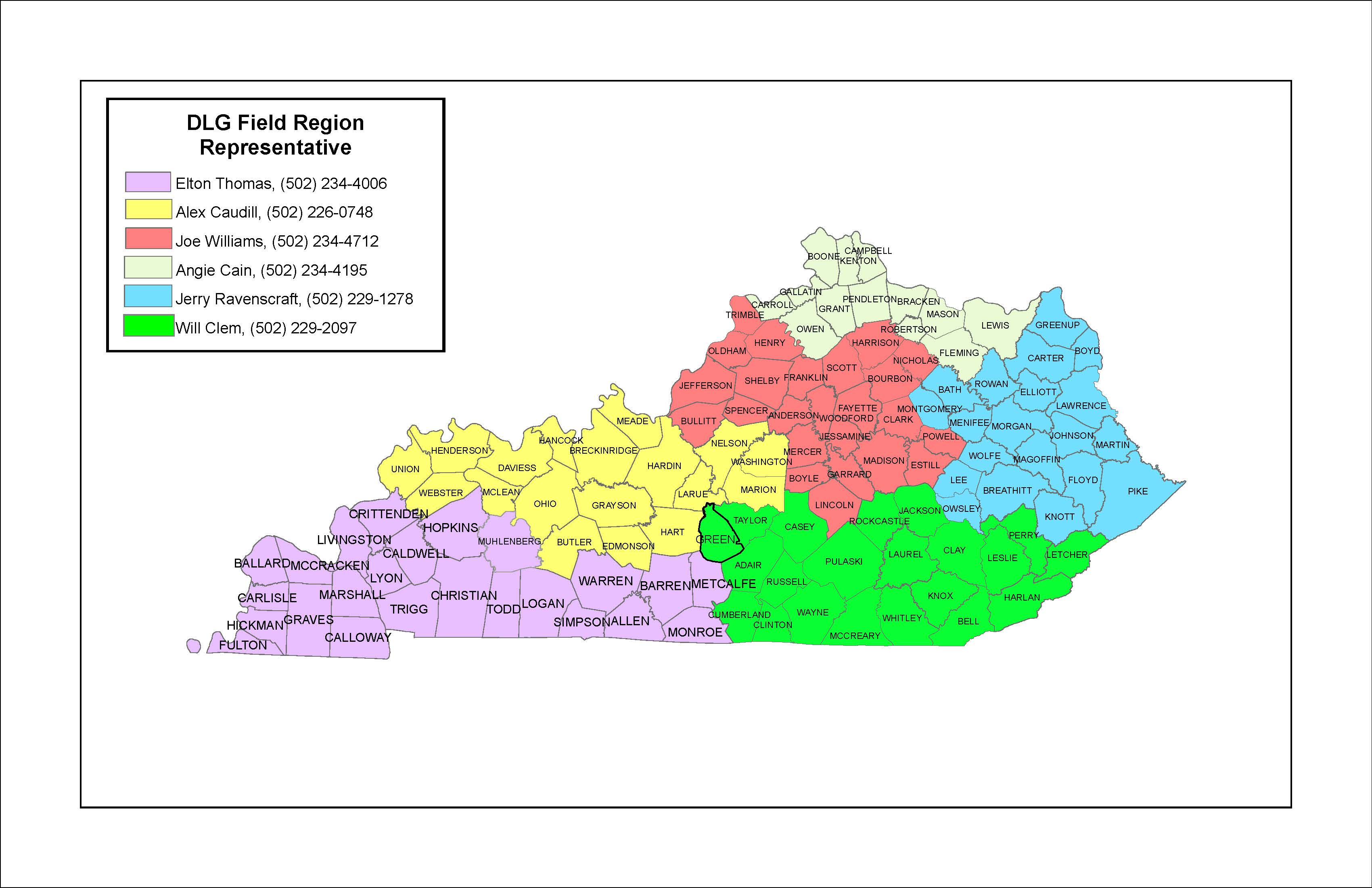DLG Field Representative Regions