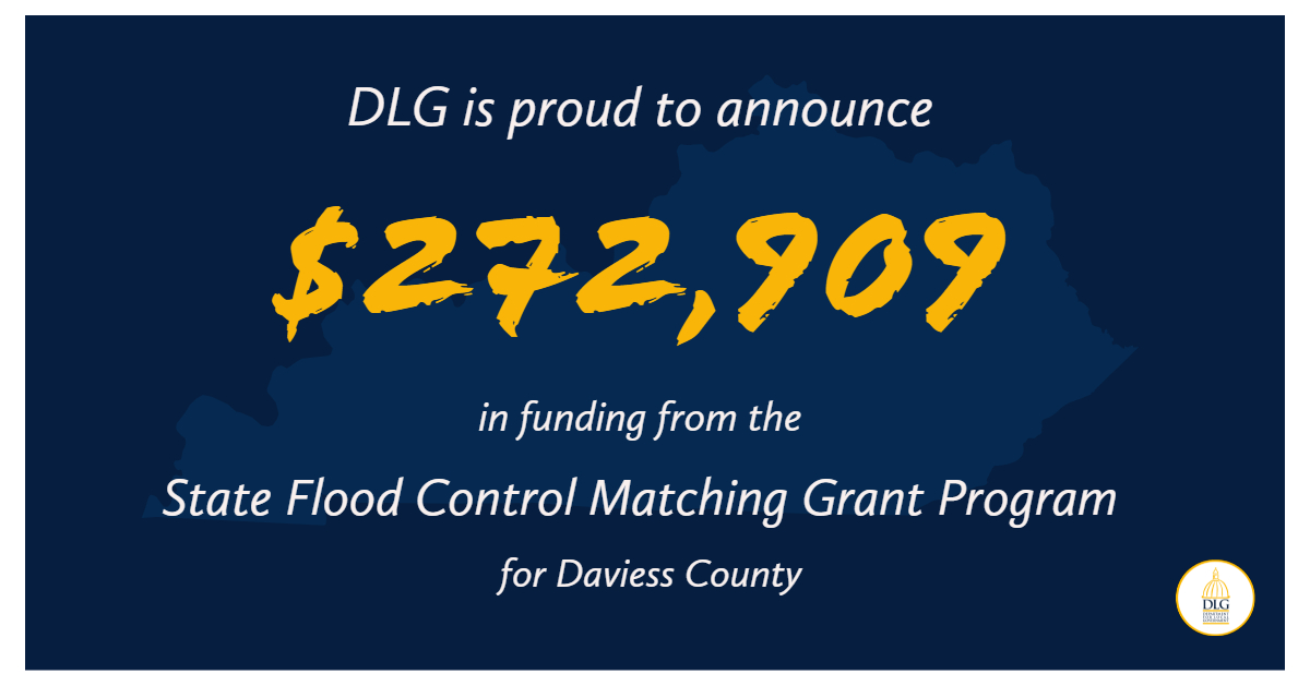 Daviess County Receives $272,909 from State Flood Control Matching Grant Program
