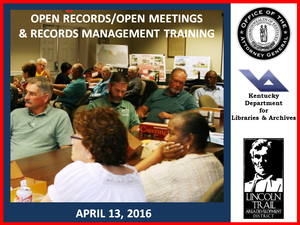 Open Meetings/Open Records & Records Management Training