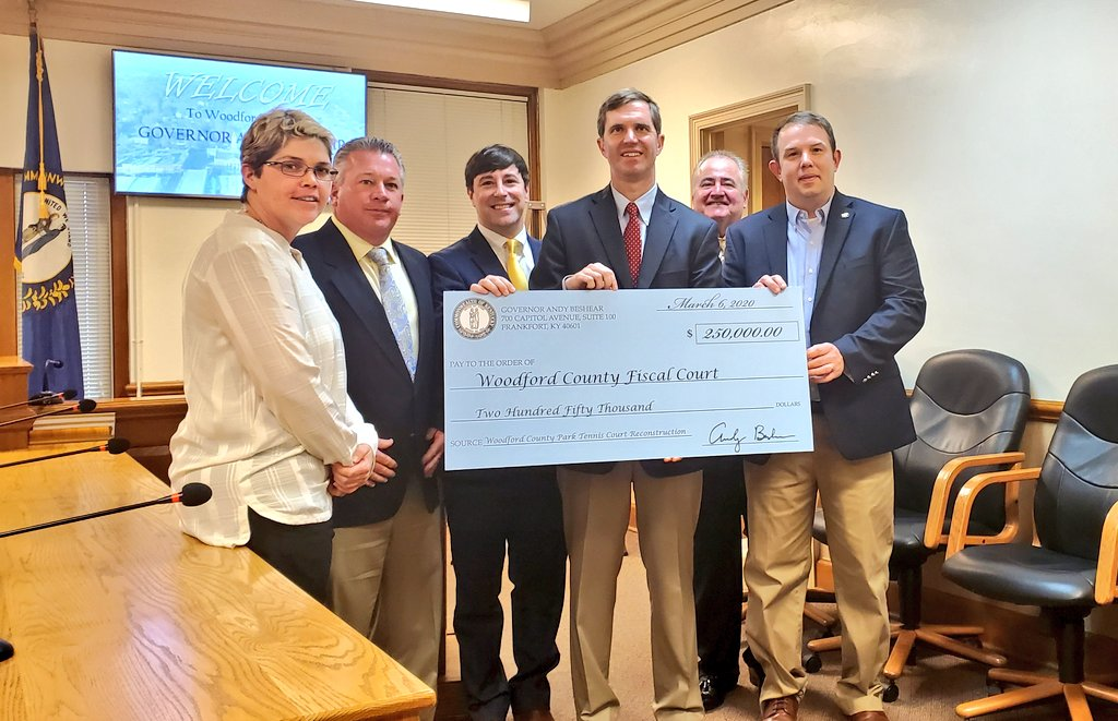 Governor Beshear Awards $250,000 Grant to Woodford County Fiscal Court