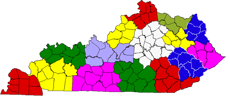 Area Development District map